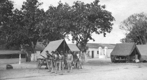 15th Company, 2nd Regiment --  3 pm Guard Relief, Fort Liberte, Haiti, 1916.