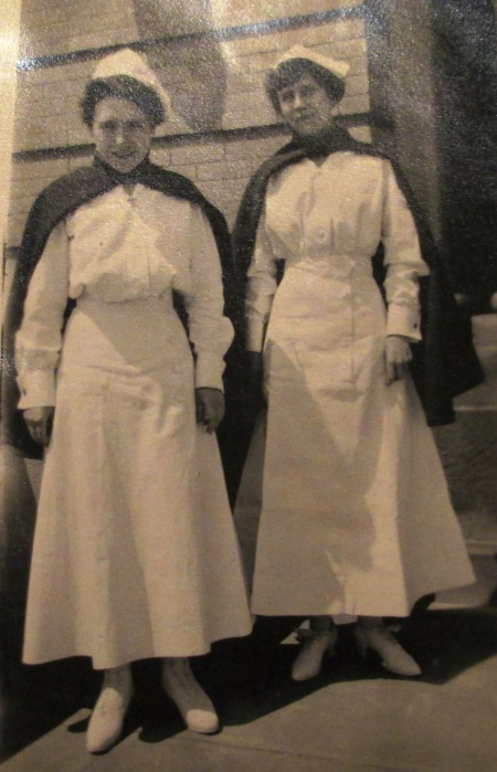 Army Nurses Lottie M. Mumbauer (906 North 19th Street, Philadelphia) and Lorena S. Ingraham (107 Maple St, Lycoming, Colorado & Jersey Shore, Pennsylvania)