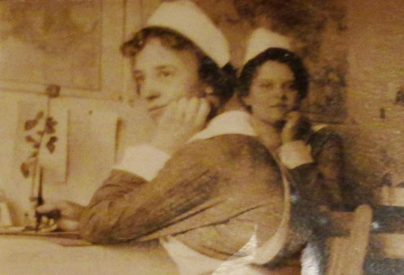 Army Nurses Ella M. Williams (Graham, Tazewell County, Virginia) and Adelaide Campbell (106 Beaconsfield Ave, Toronto, Canada).